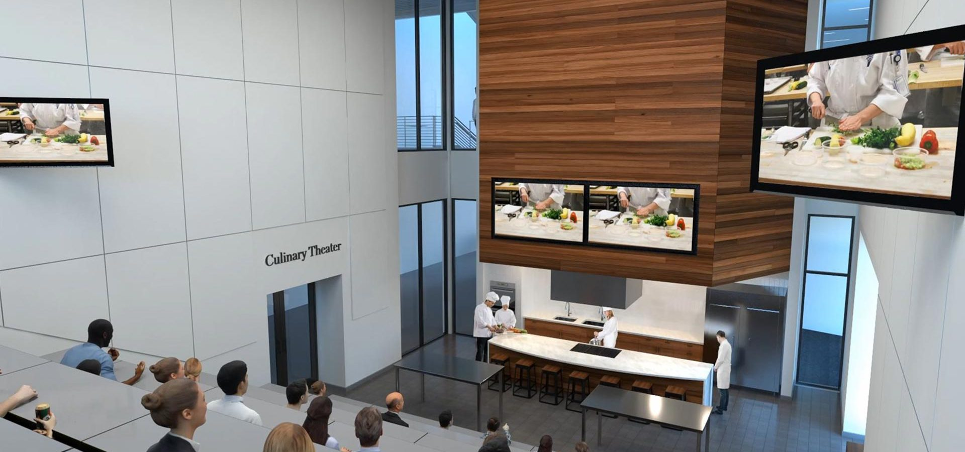 Culinary Theater Render at Mitchell Hall